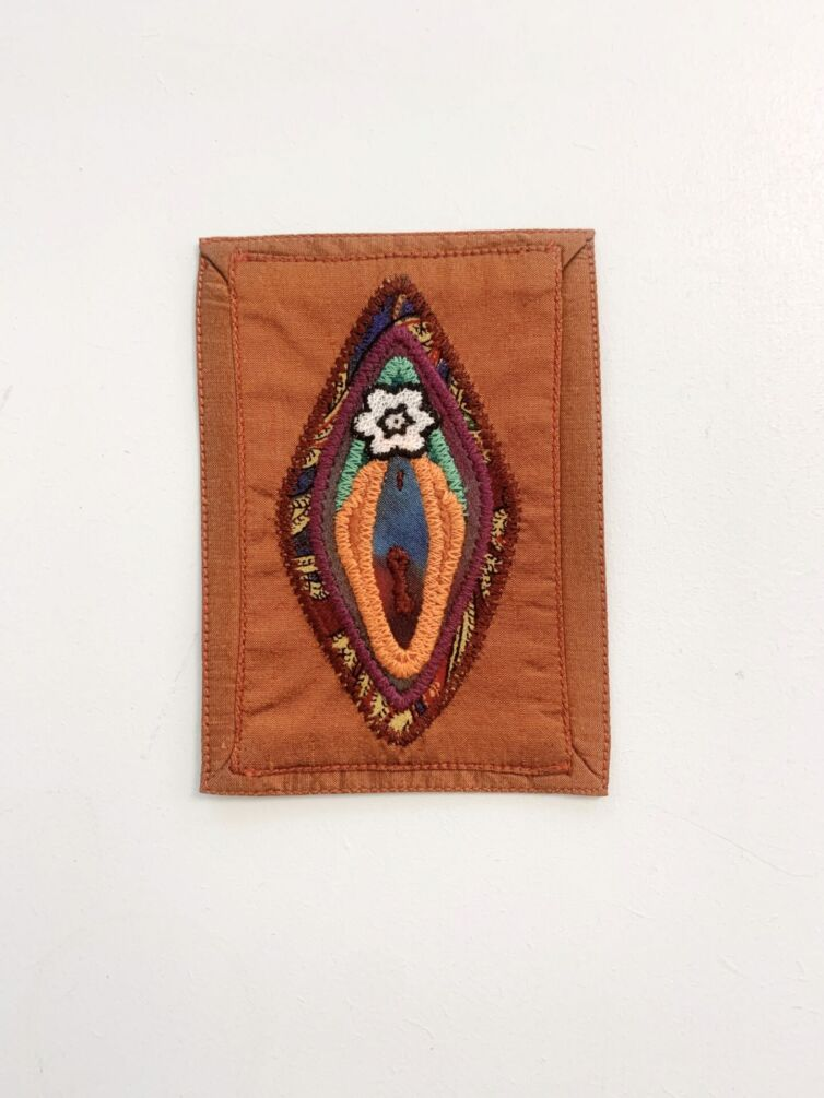 Vulva patchwork kobber / Vægdeko