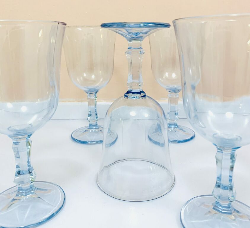 Franske vintage rødvinsglas