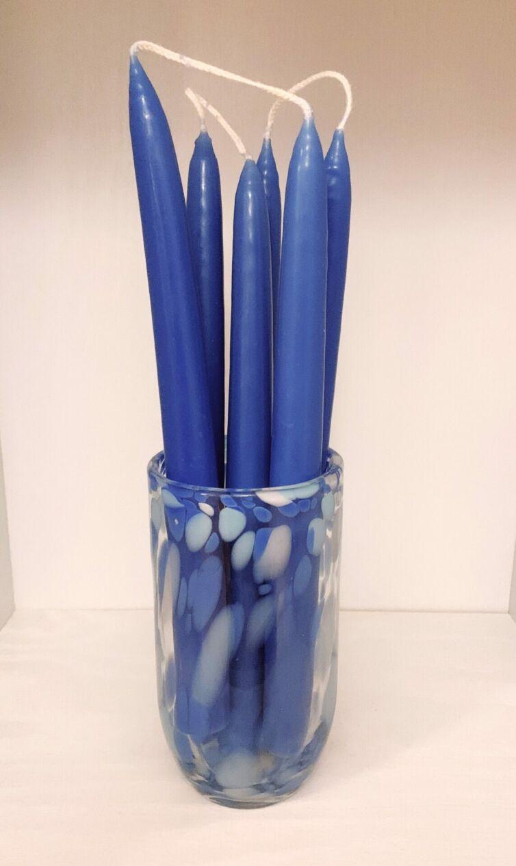 Hånddyppede stearinlys * Blå