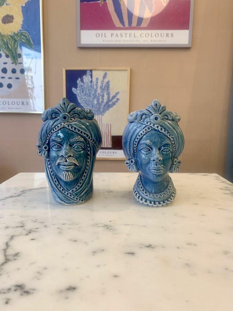 Mini Donna hovedvase ~ Blå